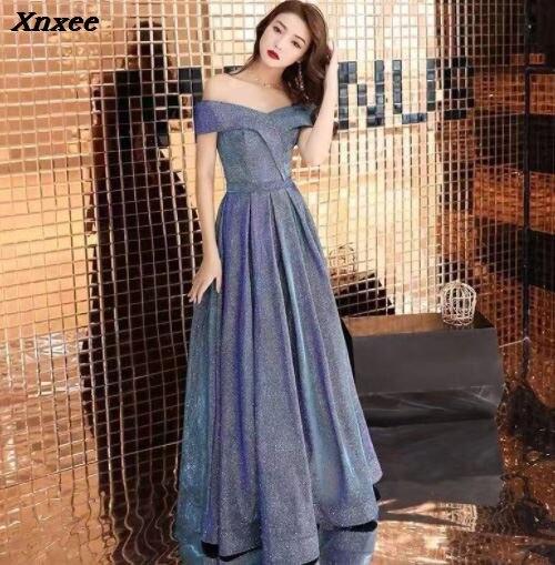 Xnxee Dress Long Sparkle 2019 New V-Neck Women Elegant Sequin Mermaid Maxi Evening Party Gown