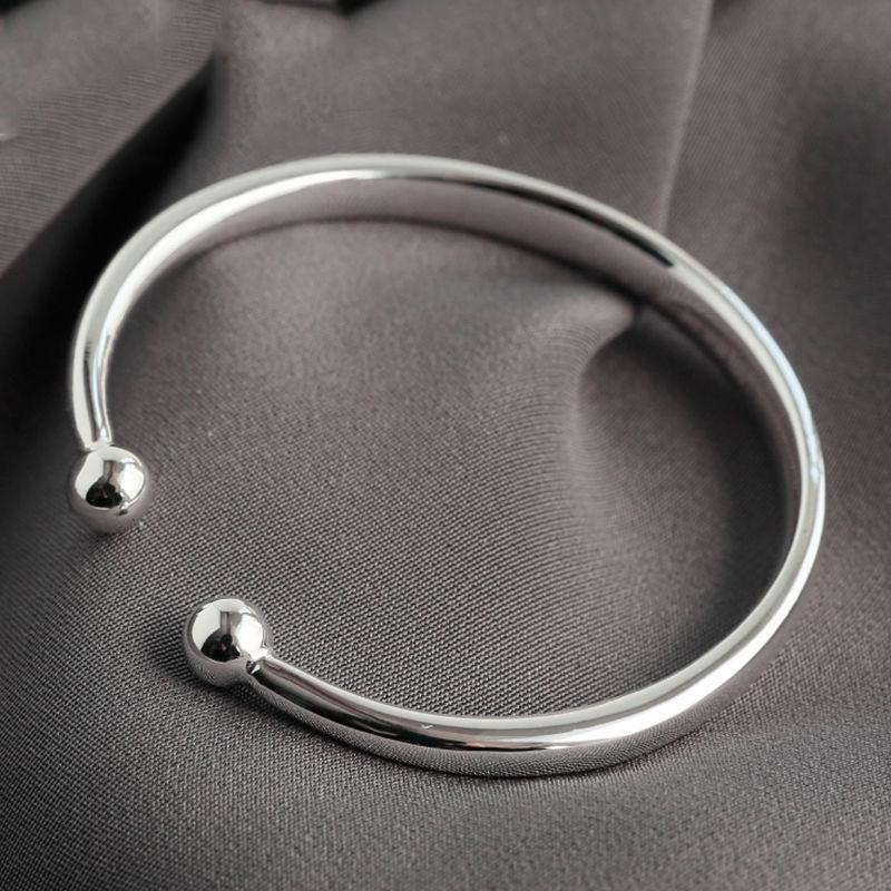 Bande en argent Sterling 999 avec bracelet rond de 53mm de diamètre