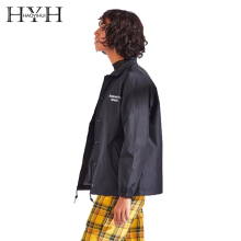 HYH HAOYIHUI Autumn Fashion Simple Street Hip Hop College Ins Tide Brand Letter Print Jacket