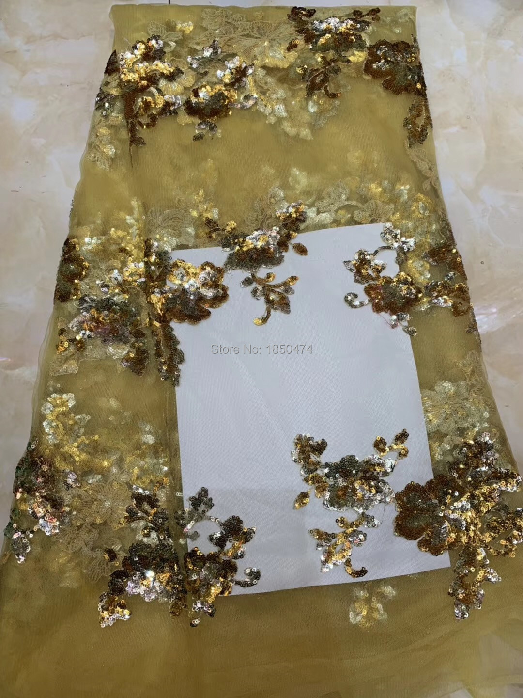 Wholesale African French Net Lace Fabric For Wedding Available In Blue Green Gold African Sequin Lace