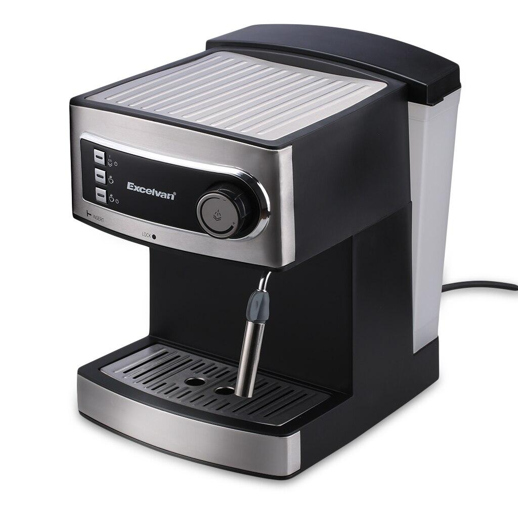 Excelvan Steam Espresso Coffee Maker Machine Latte Cappuccino 15-Bar Italy Pump