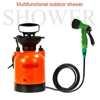 3L Outdoor Camping Shower Sprinklers Small Portable Bath Sprayer Picnic Water Bag Water Storage For Travel Watering Car Cleaning