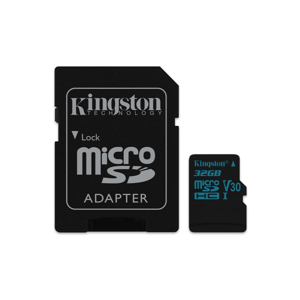 Kingston Technology Canvas Go!, 32 Gb, Microsdhc, Class 10, Uhs-i, 90 Mb/s, Black