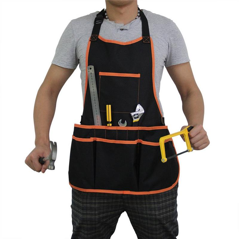 Work Apron Tool 16 Tool Pockets Tool Belt Adjustable Vest Tool Apron For Mans And Women Work Apron