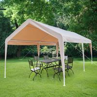 3x6 M навес чехол для тележки Универсальный Shelter гараж с ног ткани цвета хаки водонепроницаемый тент сетка для защиты от солнца солнцезащитны