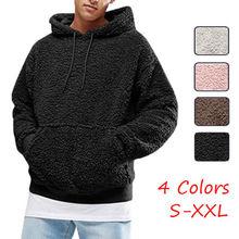 Unisex mujer hombre sudaderas con capucha de manga larga pareja otoño  invierno cálido sudadera de lana Casual jersey con capucha. eb4abe0be273