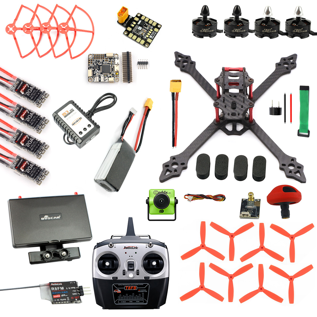 Racer Drone Brushless Camera Quadcopter Betaflight RC FPV Monitor VTX Pro XSR220 F4 3S