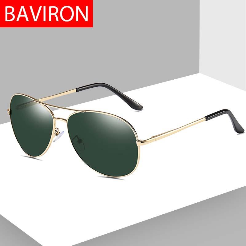 BAVIRON uva uvb óculos de Sol Piloto Polarizada Óculos Redondos dos homens Masculinos de Metal Espelhado óculos de Condução Clássicos Óculos de Sol Do Vintage Da Gota