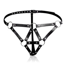 PU Leather Bondage Harness Restraint Bondage Erotic Toys Sex Products For Women Adult Game Female Chastity Belt Fetish Wear цена