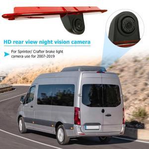 Image 2 - VODOOL coche 3rd luz de freno cámara de visión trasera impermeable IR visión nocturna aparcamiento cámara de marcha atrás para VW Crafter/Mercedes Sprinter