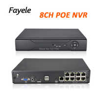 CCTV Security H.265 8CH POE NVR voor 4MP 5MP 1080 P PoE IP Camera Surveillance Netwerk Video Recorder 48 V 802.3af P2P XMeye ONVIF