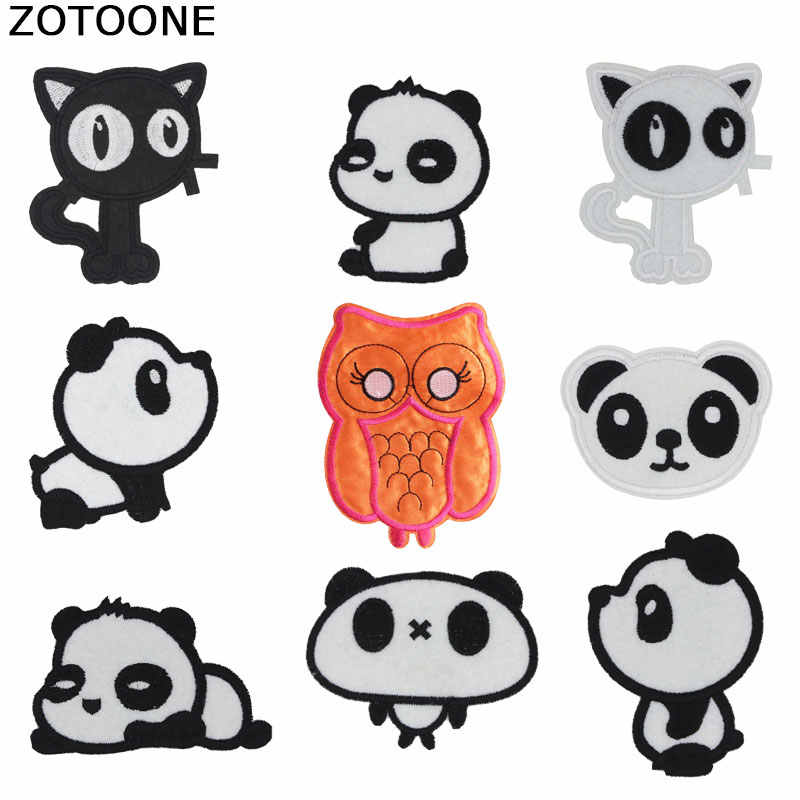ZOTOONE Flower Stripes on Clothes Stickers Iron on Patches for Clothing Diy Morale Fruit Sequin Applique Embroidery Patch Set G