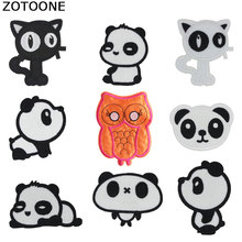 ZOTOONE Flower Stripes on Clothes Stickers Iron Patches for Clothing Diy Morale Fruit Sequin Applique Embroidery Patch Set G