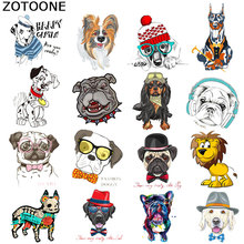 ZOTOONE Cute Dog Iron on Transfers for Clothing DIY Heat Transfer Clothes T-shirt Printed Patches Sticker Appliques G