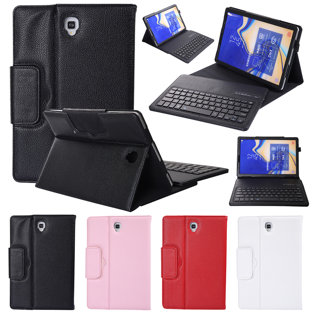 Bluetooth <font><b>Keyboard</b></font> Leather Case for Samsung Galaxy <font><b>Tab</b></font> <font><b>S4</b></font> 10.5 inch SM-T830 T835 T830 Tablet Stand Cover Wireless <font><b>Keyboard</b></font> Case image