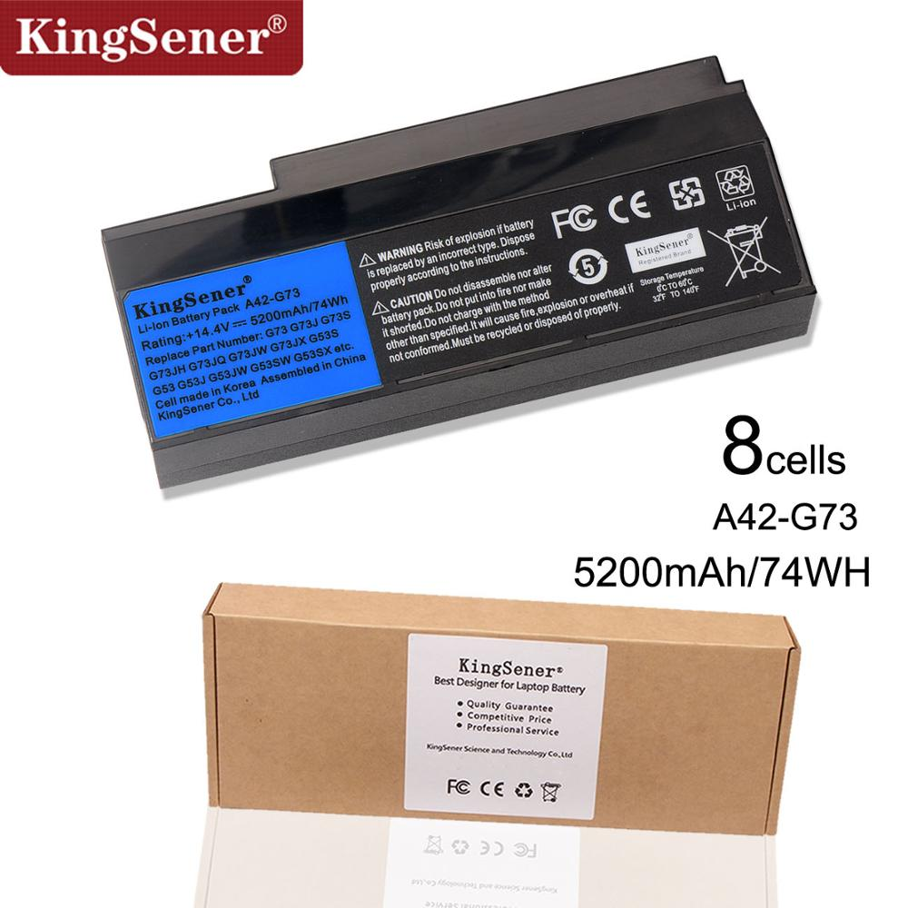 Korea Cell KingSener New A42-G73 Laptop Battery for ASUS G73 G73J G73JH G73JQ G73JW G73JX G53 G53S G53J G53JW 14.4V 5200mAh new laptop keyboard for asus g51 g51j g51v g53 g53jw g60 g60j g72 g73 hungarian hu layout