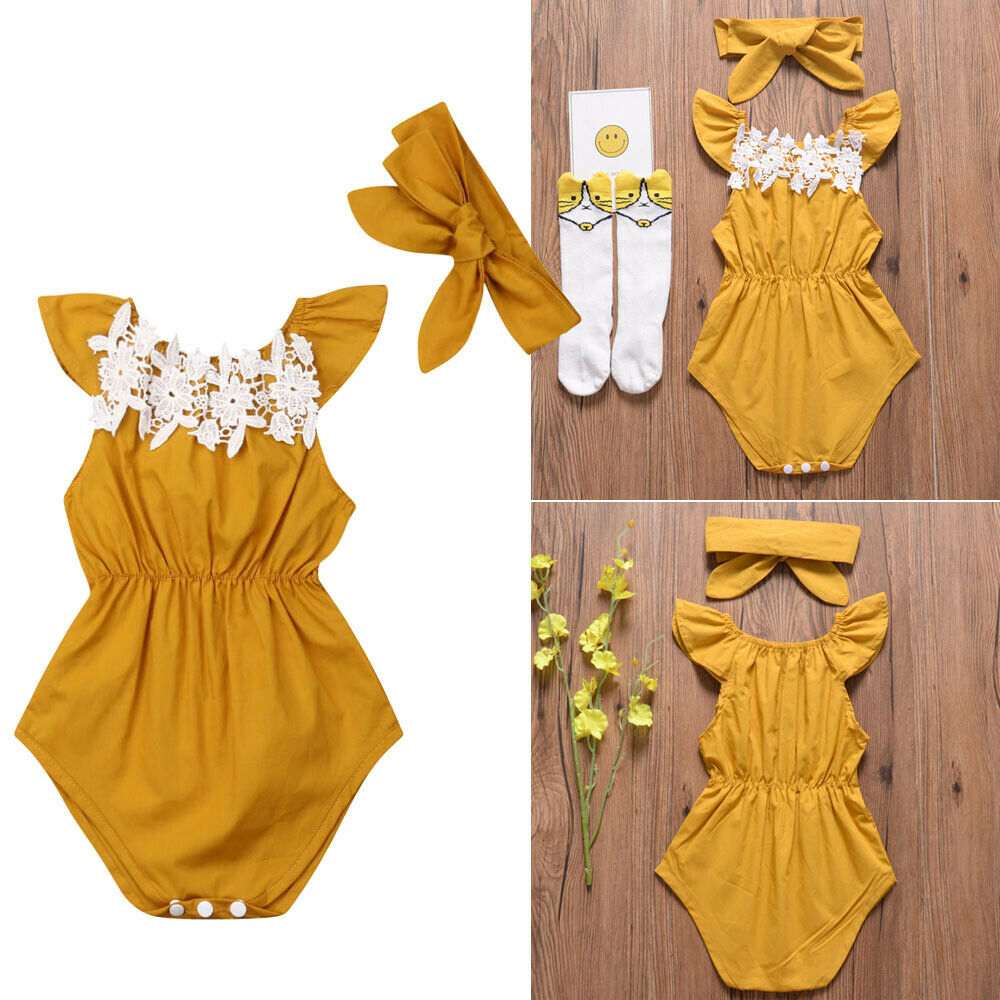 Pudcoco Baby Girl Jumpsuits 0-24M Newborn Kid Girl Flower   Romper   Sleeveless Jumpsuit Outfit Sunsuit