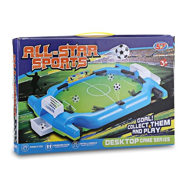 Novel Mini Tabletop Table Soccer Toy Shooting Defending Board Game Football Sport Match Kids Preschool Play Ball Toys 5