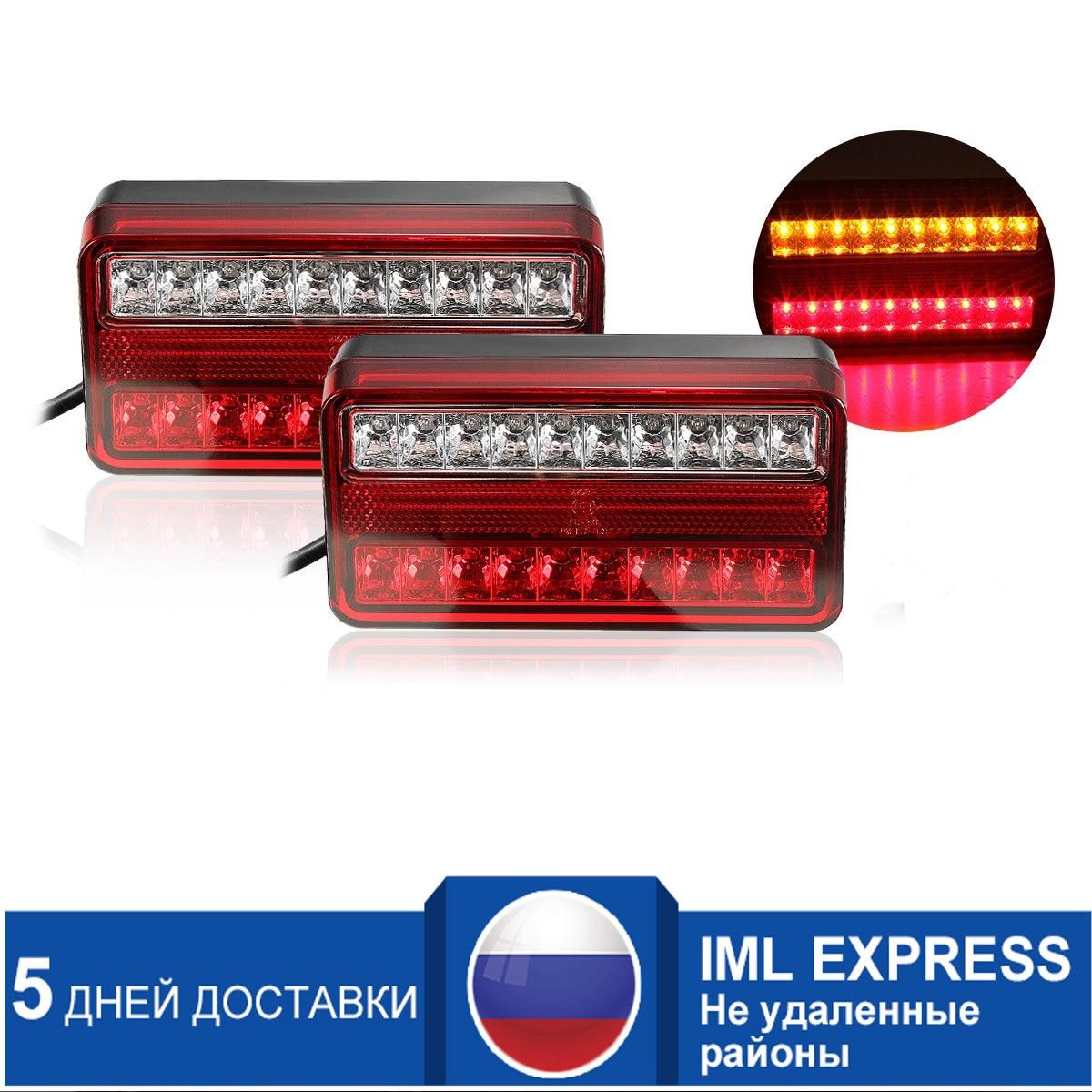 1 para 20 LED 12 v Schwanz Licht Auto Lkw Anhänger Stop Hinten Reverse Auto Blinker Lampe Zurück Up led-leuchten Blinker Lampe