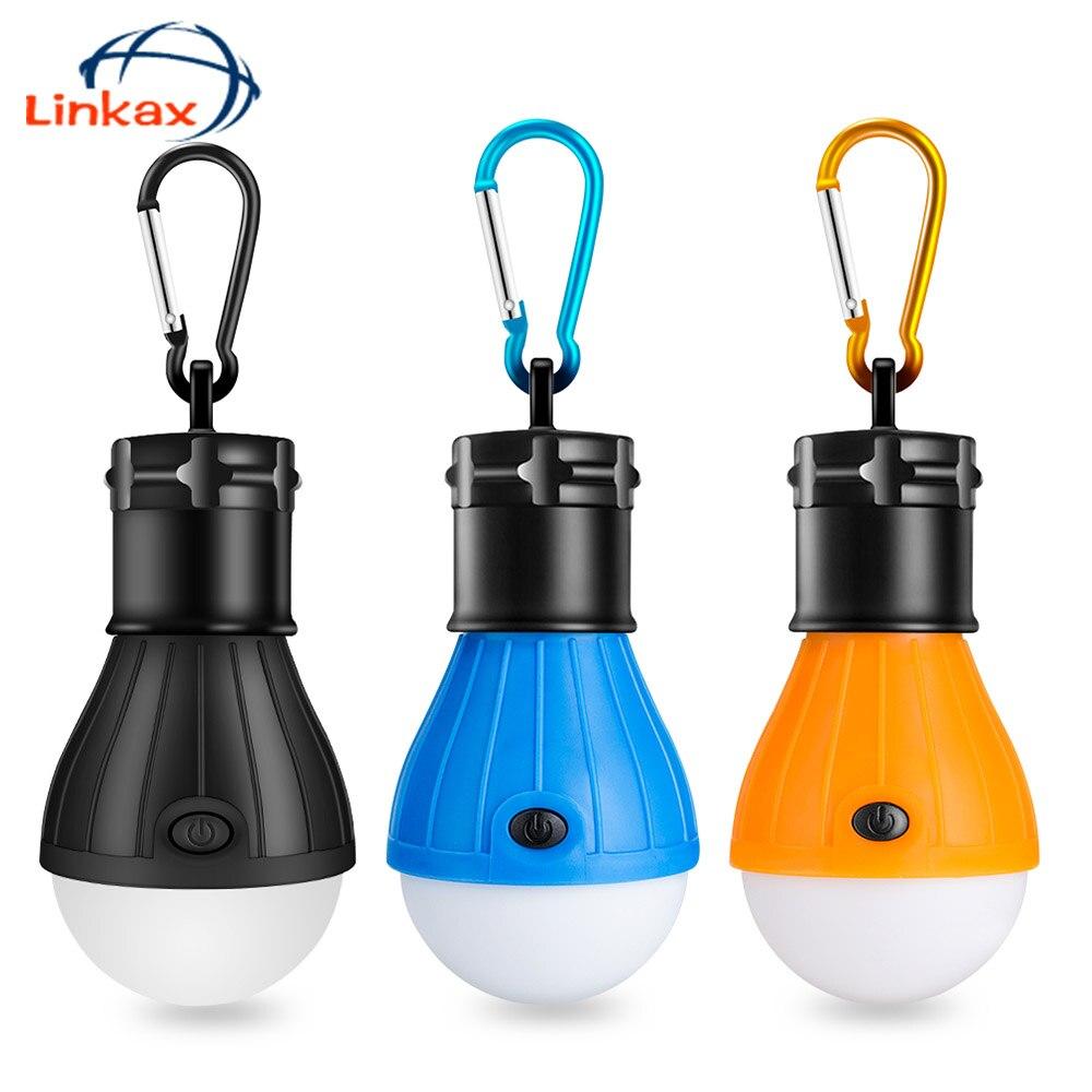 Linkax Linterna LED para acampada 2 en 1, recargable por USB, luz antimosquitos para interior y exterior, para acampadas, emergencias color verde