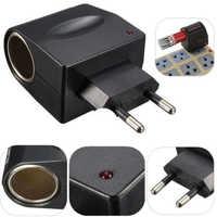 New 1Pcs Socket EU / US Plug 220V AC Power to 12V DC Car Cigarette Lighter Converter Adapter Electrical Socket