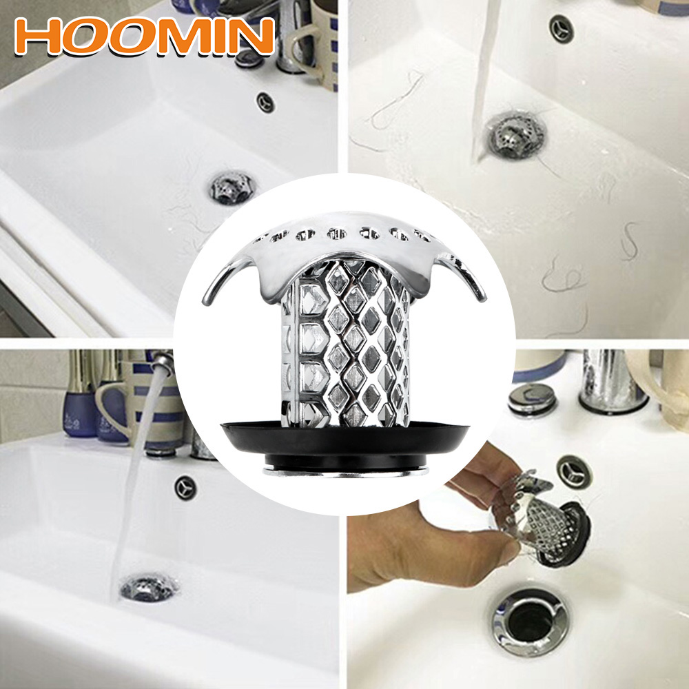HOOMIN Gadgets Shower Sink Drain Cover Bath Plug Shower Drain Hair Catcher Sink Filter Prevents Hair From Clogging