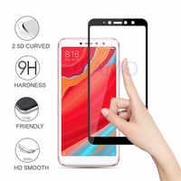 9 H vidrio templado de cobertura completa para Xiaomi Redmi S2 Nota 5 5A Redmi 5 Plus 5A Protector de pantalla para Redmi 4X 6A Note 6Pro película de vidrio