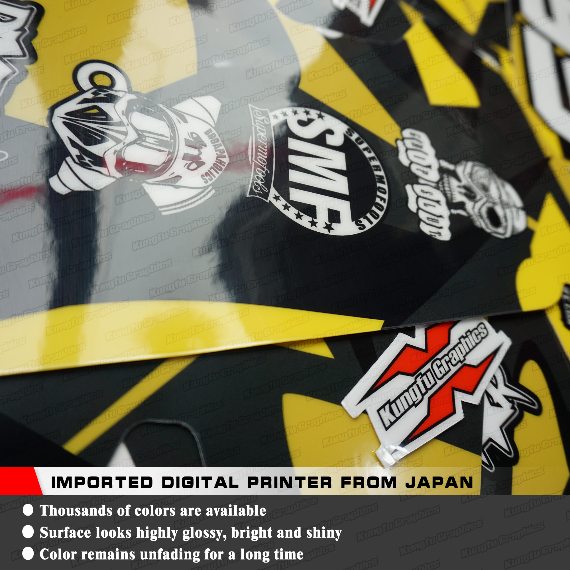 Kungfu graphics custom stickers vinyl decal kit for suzuki drz400sm supermoto drz400e enduro 1999 2019 style no szdrse9919015 in decals stickers from