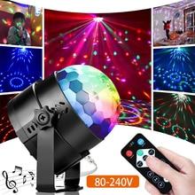 Dj Disco Light Led-Beam Music-Control Colorful Ktv Gift AC Holiday 80-240V Kid's New-Year