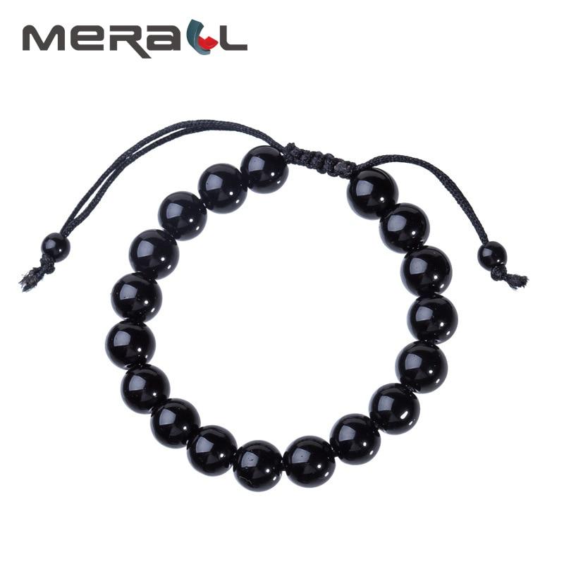 Slimming Bracelet Black Bracelet Slimming Products Lose Weight For Men Health Obsidian Weight Loss Bracelet Adjustable Crystal