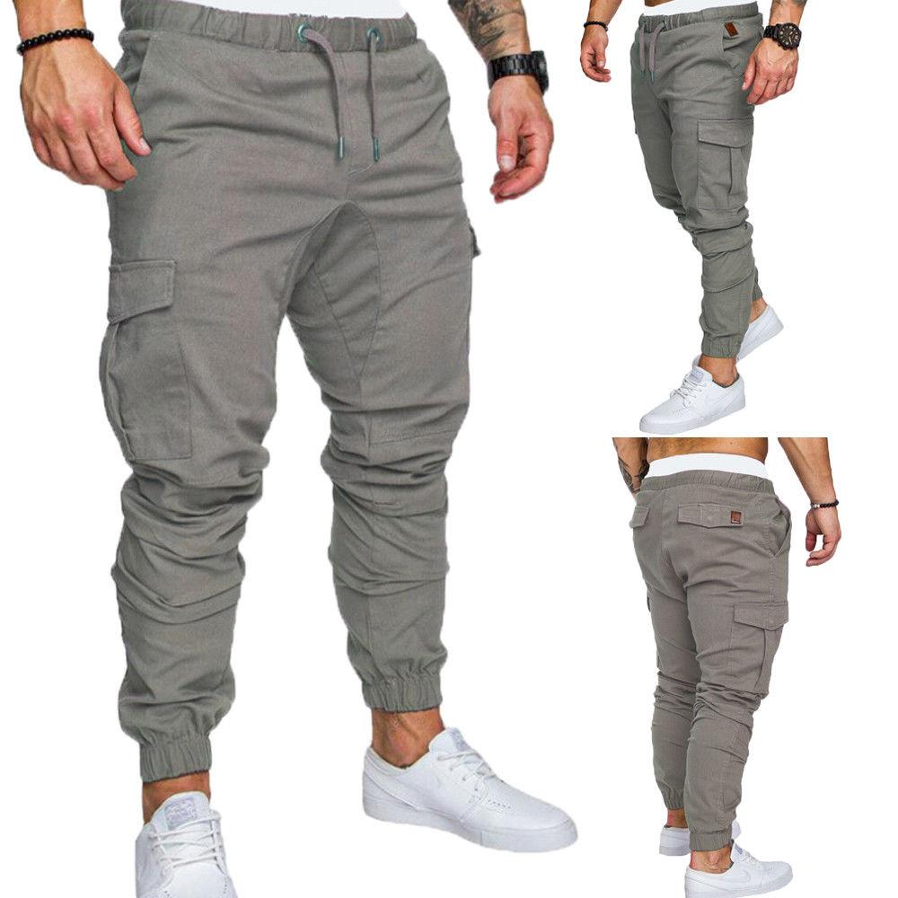 Men's Clothing Pants 2018 New Fashion Hot Popular Slim Fit Straight Leg Pants Casual Pencil Jogger Cargo Trousers Men
