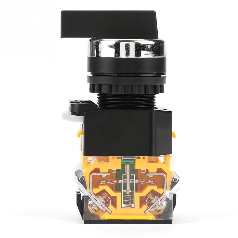 22mm 3 Position Auto Reset Selector Momentary Rotary