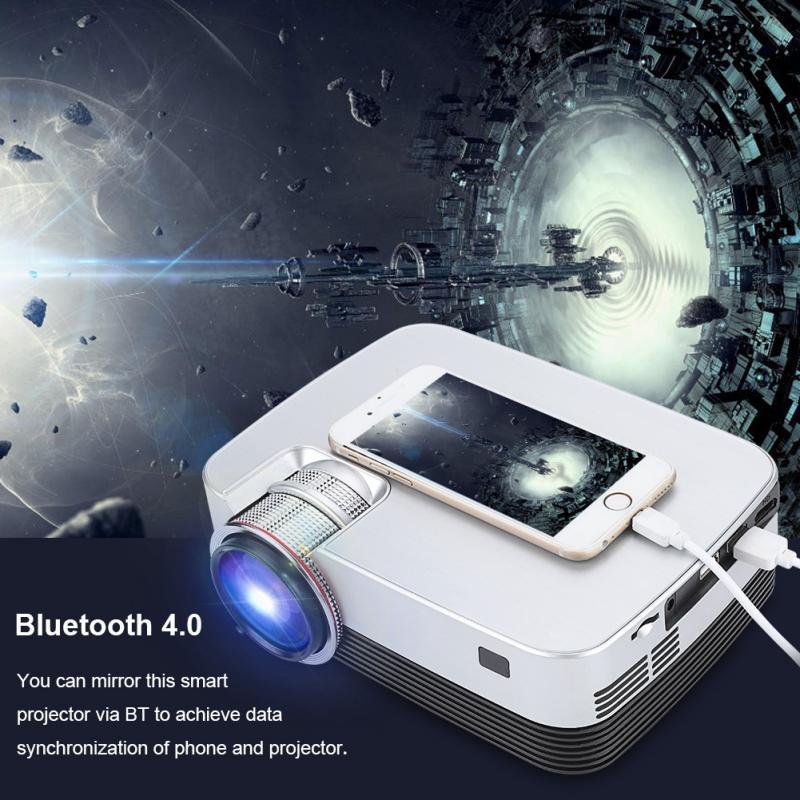 Tragbare Led Mini 1080 P Hd Hause Projektor Wifi Bluetooth 4,0 Hdmi 3,5mm Für Android 7.1 110-240 V Us/uk/eu/au Optional Unterhaltungselektronik Heim-audio & Video