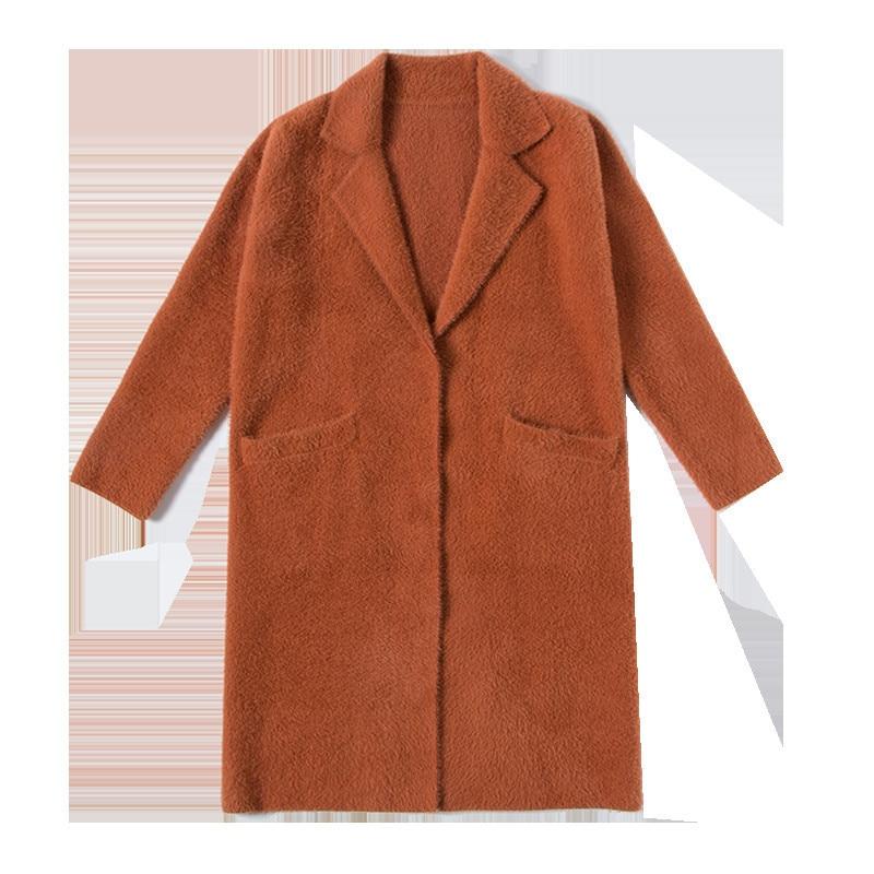 Banlieue blue camel Épaissie Nouveau Manteau Long 2018 Beige De Lâche Outwear Tempérament Ol Femmes Solide black Marque Automne Hiver Couleur tWAU4