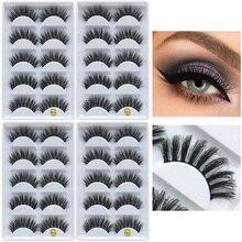 HUAPAN 20 Pairs Eyelashes 3D imitation Mink Lashes natural thick handmade volume soft lashes long eyelash extension  for makeup
