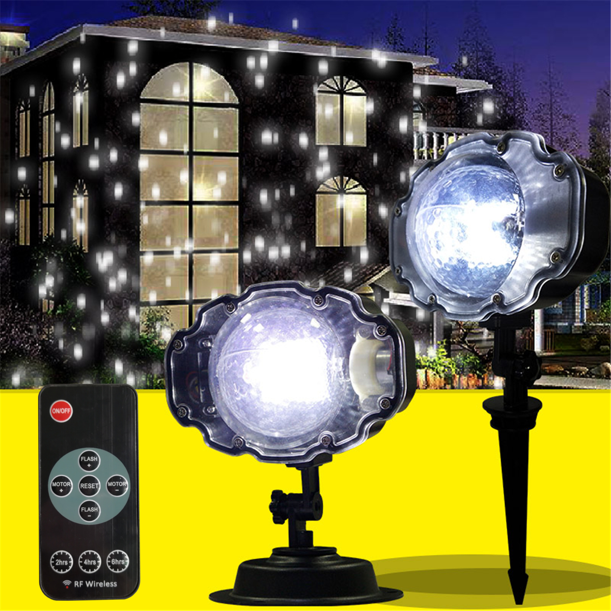 Outdoor Waterproof Laser Projector Snowflake LED Lamp Light Mini Adjustable Snowflake Light Christmas Garden Home Decor Light купить в Москве 2019