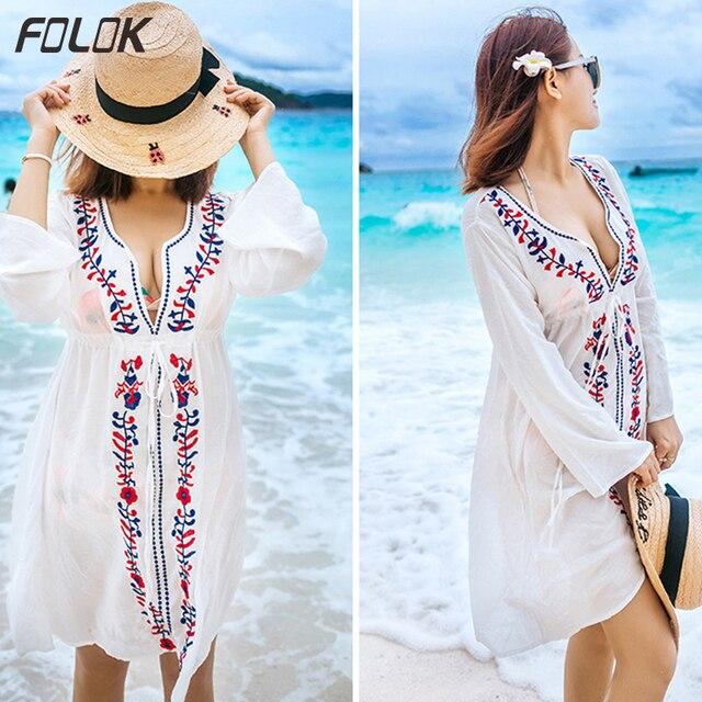 7404886a31618 купить Пляжные туники с принтом из вискозы кафтан пляжное платье ...
