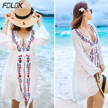 Beach Tunics Print Rayon Kaftan Dress Swimwear Large Size Beachwear Cover ups Robe de Plage Saida Praia