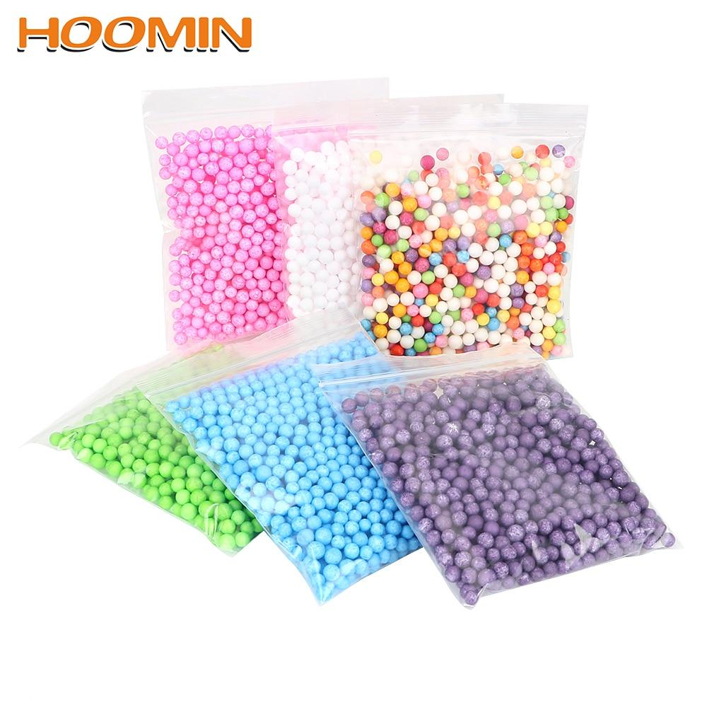 Hoomin 7-9mm 2000 Pcs Kussen/sofa Filler Kleuren Versieren Polystyreen Piepschuim Plastic Ronde Foam Mini Kralen Bal