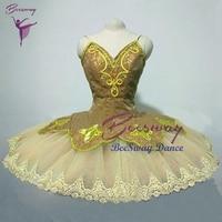 Gold Swan Lake Professional Ballet Tutu dress Sleeping Beauty Ballet Stage Costume For Girls women Ballet Tutu skirt
