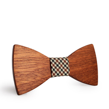 2019 new European and American trend brand wood bow tie, simple fashion casual accessories