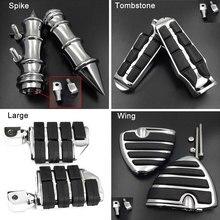 Wing Rear Foot Peg fit For 1996-2015 14 Honda Rebel 250 CMX250C / 2009-2015 Fury VT1300CX CXA Passenger Spike footpeg Rest pedal
