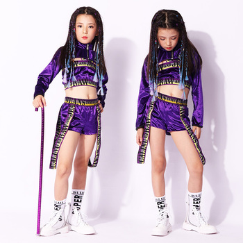 Childrens Hiphop Jazz Dance Performance Clothes Tide Girls Hip-hop Walk-show