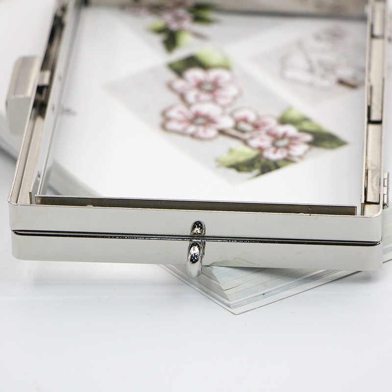 15 cm Gold/Silber Schraube DIY Tasche Hardware Teile Metall Geldbörse Rahmen Brieftasche Obag Griff Großhandel Diy Rahmen Geldbörse großhandel