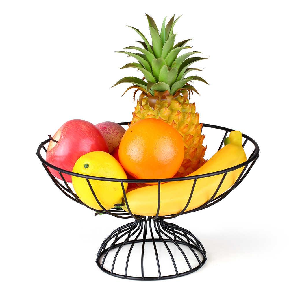 Titular de Armazenamento de Exibição Organizador De Armazenamento De Ferro Cesta de frutas Vegetal Tigela Rack de Frutas Vegetais Mesa de Jantar Decoração
