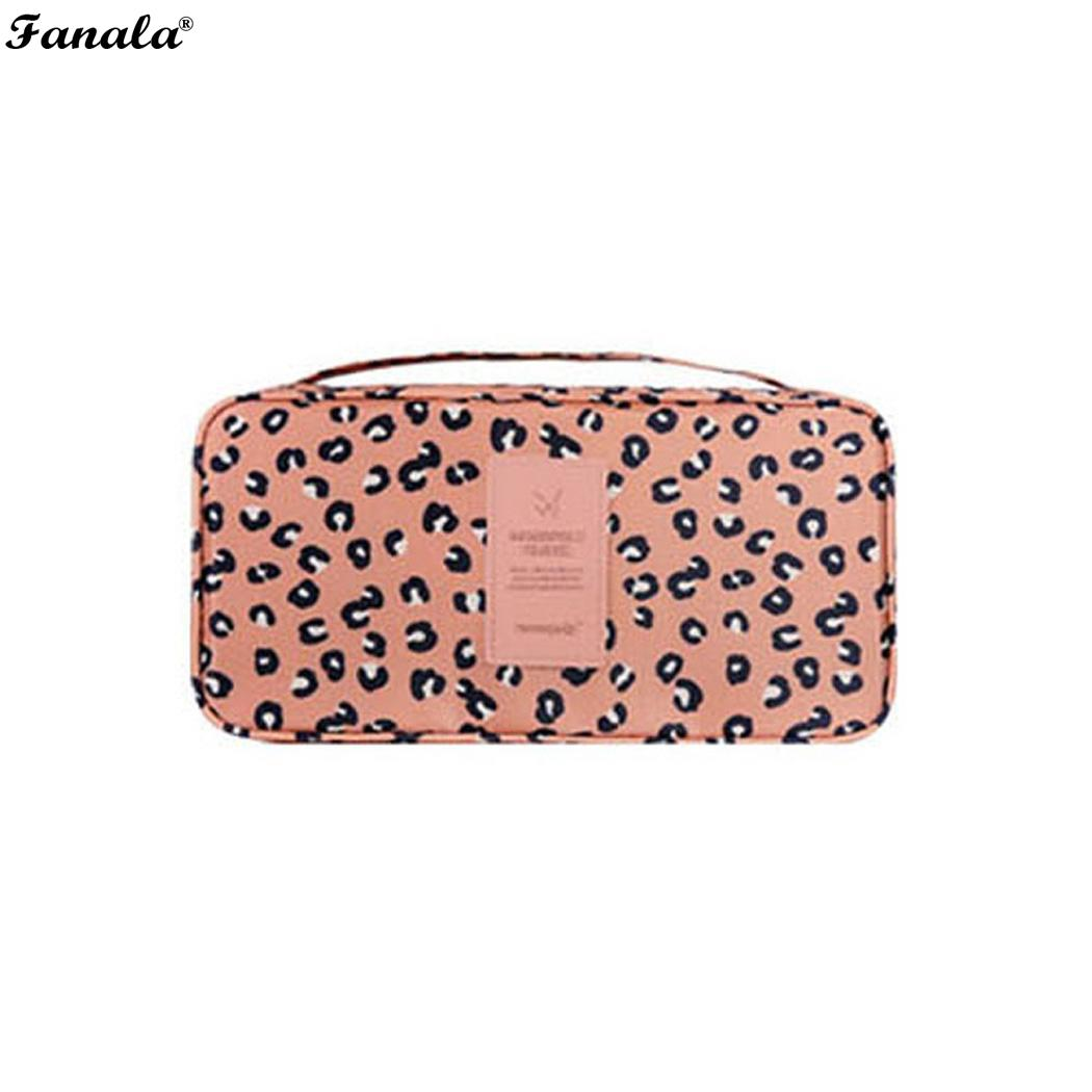Portable Travel Underwear Cosmetic Daily Supplies Home, Travel, Business Trip Storage Printed Bag Zipper