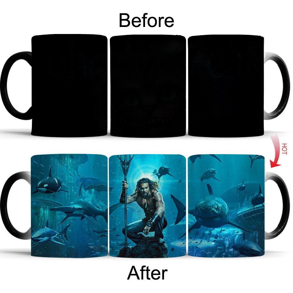 Wellcomics Justice League Aquaman Heat Reveal Mug Color Change Coffee Cup Sensitive Morphing Mugs Temperature Sensing Gift Cool