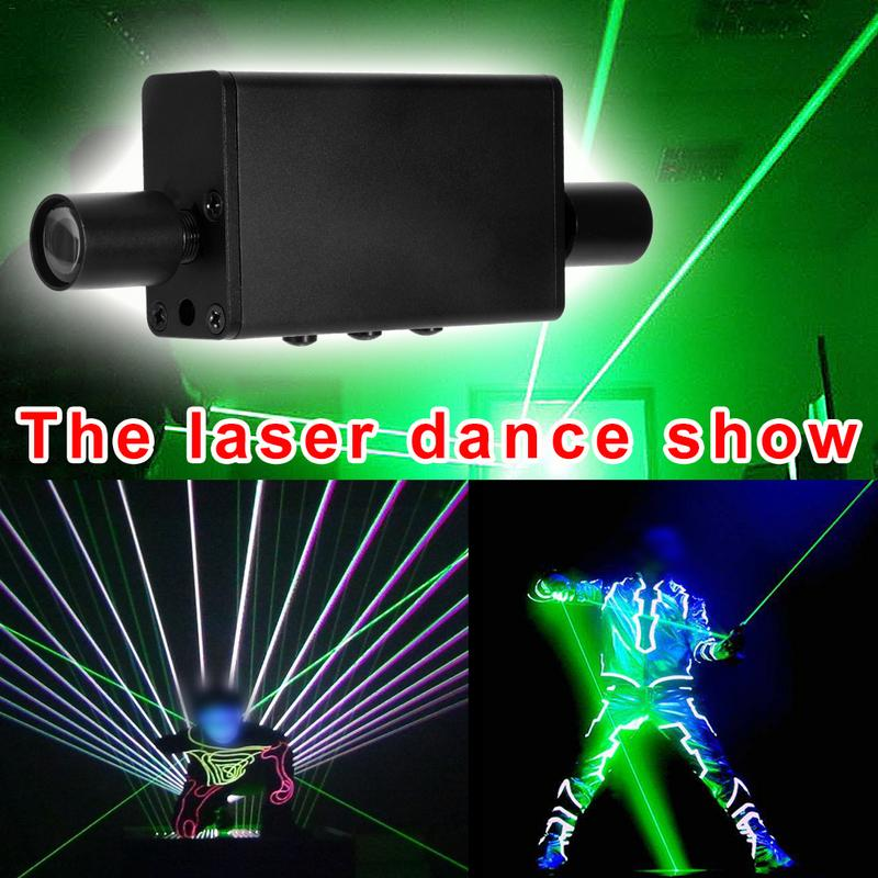Mini Double headed green laser sword laser dance handheld stage props Man Show laser refers to star pen thick beam 532nm 200mW