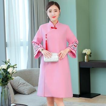 Vestido Cheongsam para mejorar el engrosamiento Lanky en las aduanas nacionales de 2019