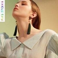 WKOUD EAM 2019 Baroque Charm Jewelry Woman New Imitation Pearl Tassels Pendant Dangle Earrings Female Earring Party Gift S#TA252